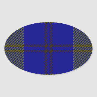 Tartan Clan Oliphant Oval Sticker