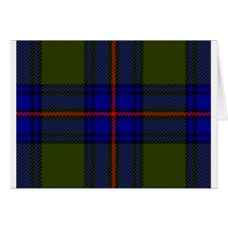Tartan Clan Shaw Card