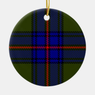 Tartan Clan Shaw Ceramic Ornament