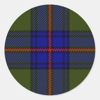 Tartan Clan Shaw Classic Round Sticker