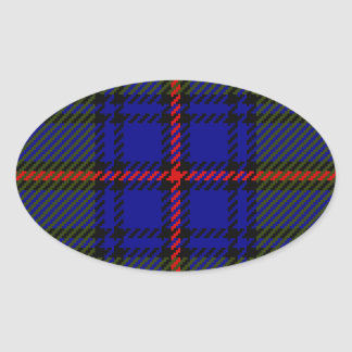 Tartan Clan Shaw Oval Sticker
