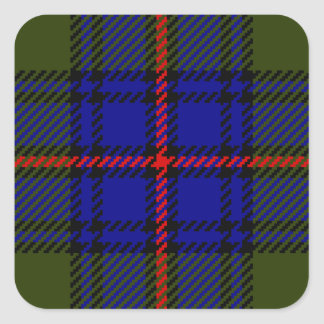 Tartan Clan Shaw Square Sticker
