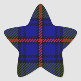 Tartan Clan Shaw Star Sticker