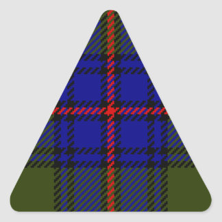 Tartan Clan Shaw Triangle Sticker