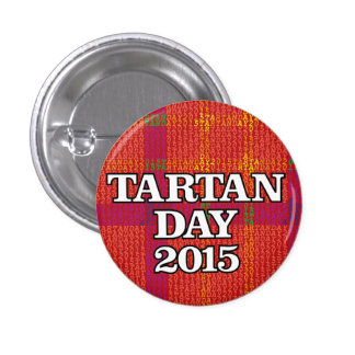 Tartan Day 2015 mini-button 1 Inch Round Button