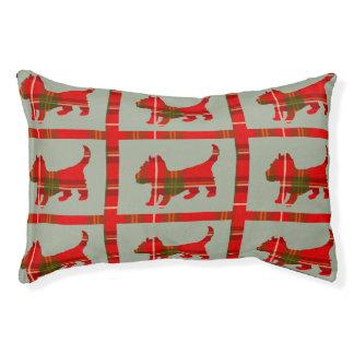 Tartan Doggie Design on Indoor Dog Bed Small Dog Bed