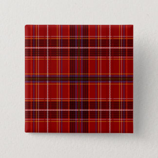 Tartan Fabric Texture 2 Inch Square Button