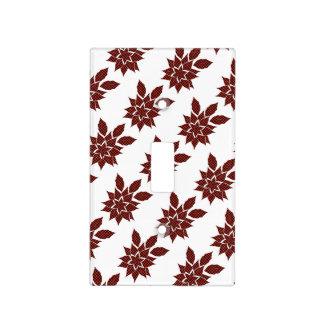 Tartan flower light switch cover