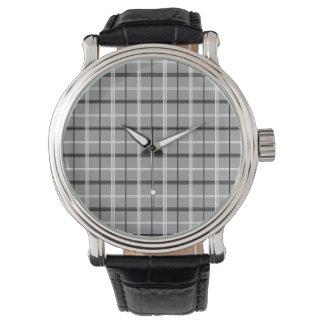 Tartan Grey Classy Elegant Minimal Stylish Cool Watch