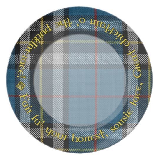 Tartan Haggis Plate for Burns Night - January 25th
