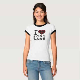 Tartan Heart - Love Scotland T-Shirt