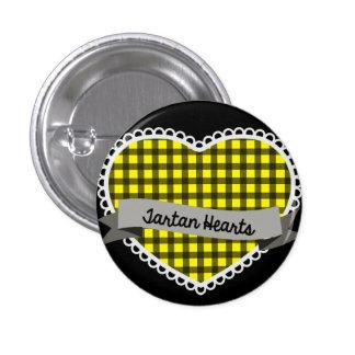 Tartan Hearts small button