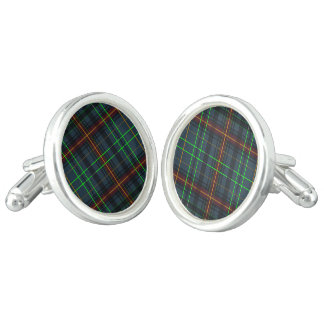 Tartan in blue, orange, green... cufflinks
