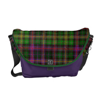 Tartan in Green and Purple Commuter Bags