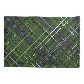 Tartan in green pillowcase