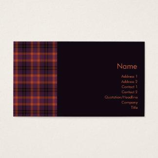 Tartan No. 0011 Business Card