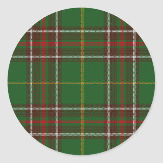 Tartan_of_Newfoundland_and_Labrador Classic Round Sticker