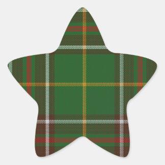 Tartan_of_Newfoundland_and_Labrador Star Sticker