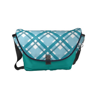 Tartan pattern of stripes and squares commuter bags