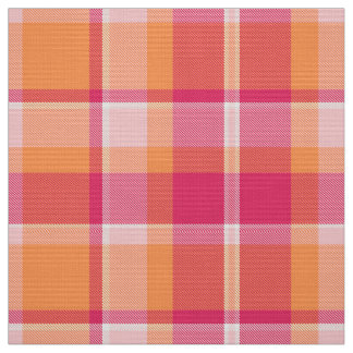 Tartan Pattern Orange and Pink ID210 Fabric