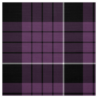 Tartan Pattern Violet Black White ID305 Fabric