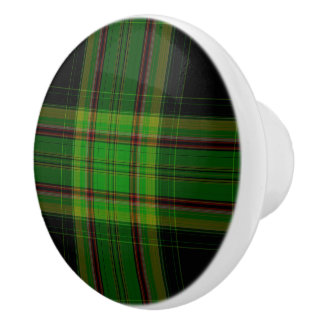 Tartan Plaid Ceramic Knob