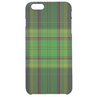 Tartan Plaid Clear iPhone 6 Plus Case