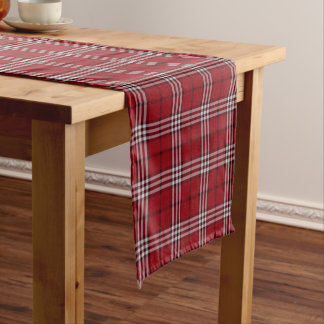 Tartan plaid Cranberry pattern dining table runner