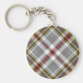 Tartan plaid design keychain