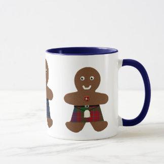 Tartan Plaid Gingerbread Men Mug