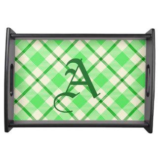 Tartan Plaid Green St. Patrick's Day Serving Tray