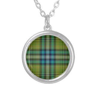 Tartan Plaid Silver Plated Necklace