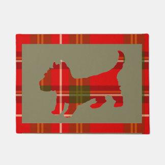 Tartan Puppy Doormat