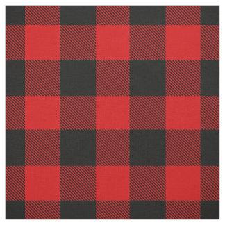 Tartan rouge et noir de plaid de contrôle de tissu
