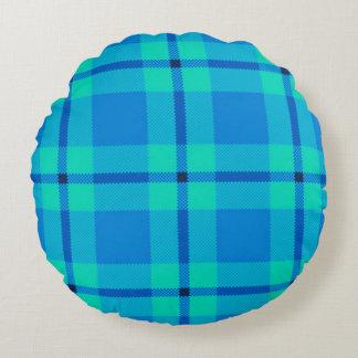 tartan round pillow