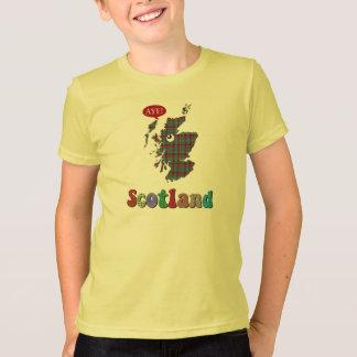 Tartan Scotland Aye Map T-Shirt