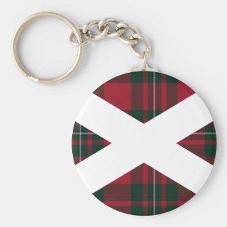 Tartan Scotland Flag Keychain
