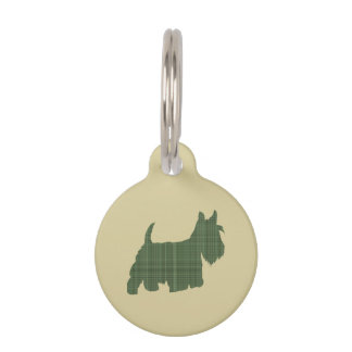 Tartan Scottie Pet Tag