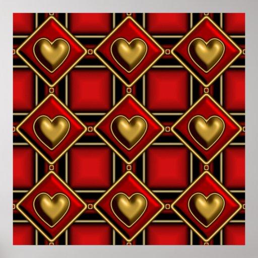 Tartan Valentine Print