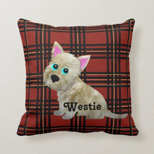 Tartan Westie Pillow
