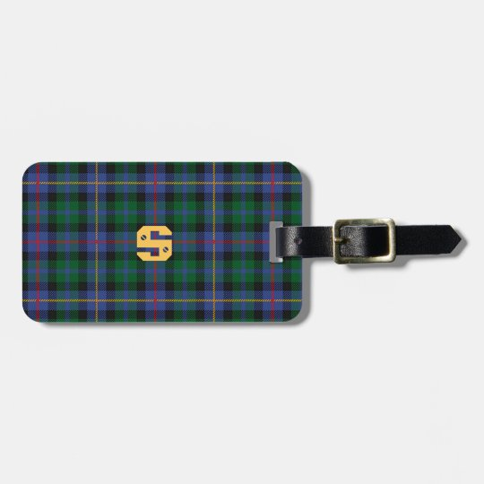Tartan with (or without) your Initial Bag Tag