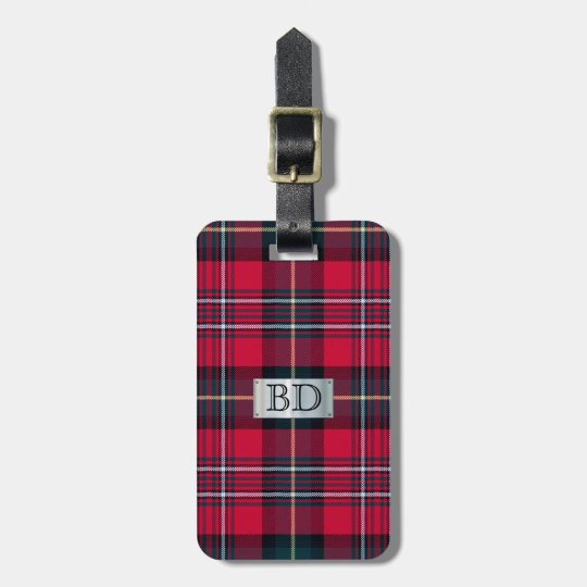 Tartan with (or without) your Initial Luggage Tag