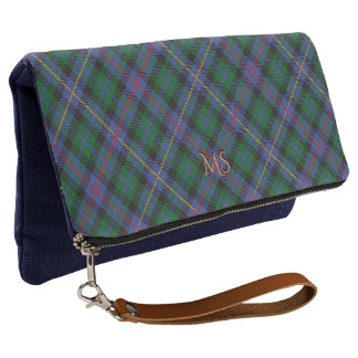 Tartan with (or without) your Initials Clutch
