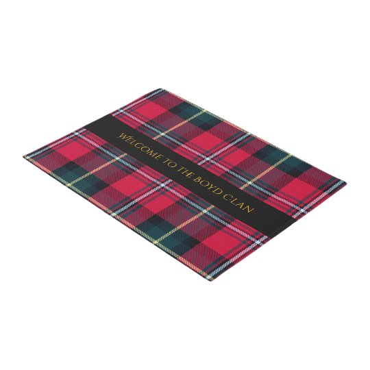 Tartan with Your Name on it Doormat