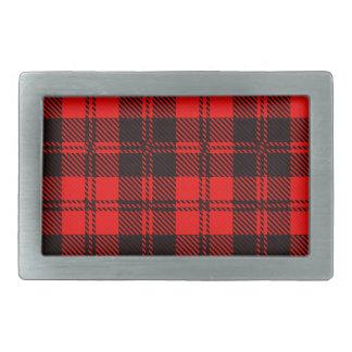 Tartan Wool Material Belt Buckle