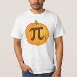 Tarte de citrouille de Halloween pi T-shirts