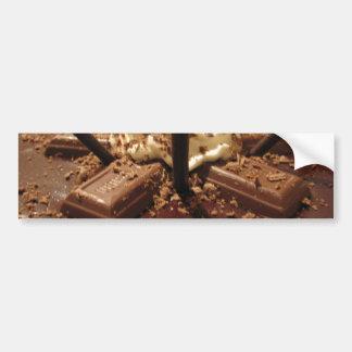 Tarte syphilitique de chocolat autocollant de voiture