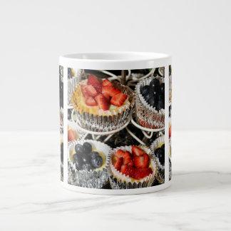 Tartes de fruit de boulangerie mug jumbo