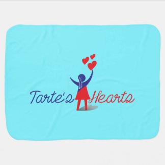 Tarte's Hearts Blankie Swaddle Blanket