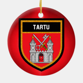 Tartu Flag Ceramic Ornament